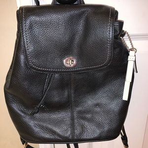Coach pebble Leather BackPack Purse